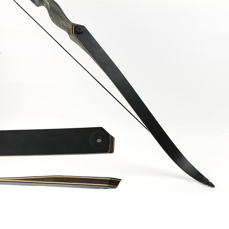 Toparchery 30/40/50lbs 60 pulgadas tomar caza arco de madera vertical arco recurvo arco nueva tecnología miembros arco de tiro al aire libre - 4