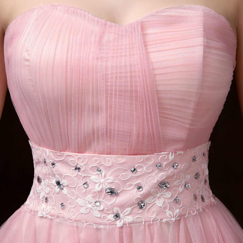 PSQY-F # Nuovo corto rosa abiti da damigella d'onore per la primavera e l'estate 2020 della ragazza della festa nuziale di promenade vestito brindisi gruppo Sorella commercio all'ingrosso
