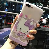 Mobile Phone Case Tpu White Matte Embossed Bird Language Floral Protective Shell For Iphone