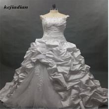 kejiadian Women Western Style Long Sleeve wedding dress