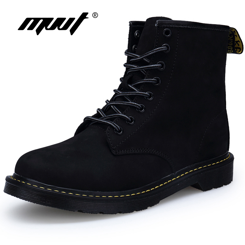 MVVT Classic Black Winter Boots With Fur Keep Warm Fashion Men Boots Martin Boots Suede Mid-Calf Men Shoes manitobah унты mid classic suede mukluk женские серый