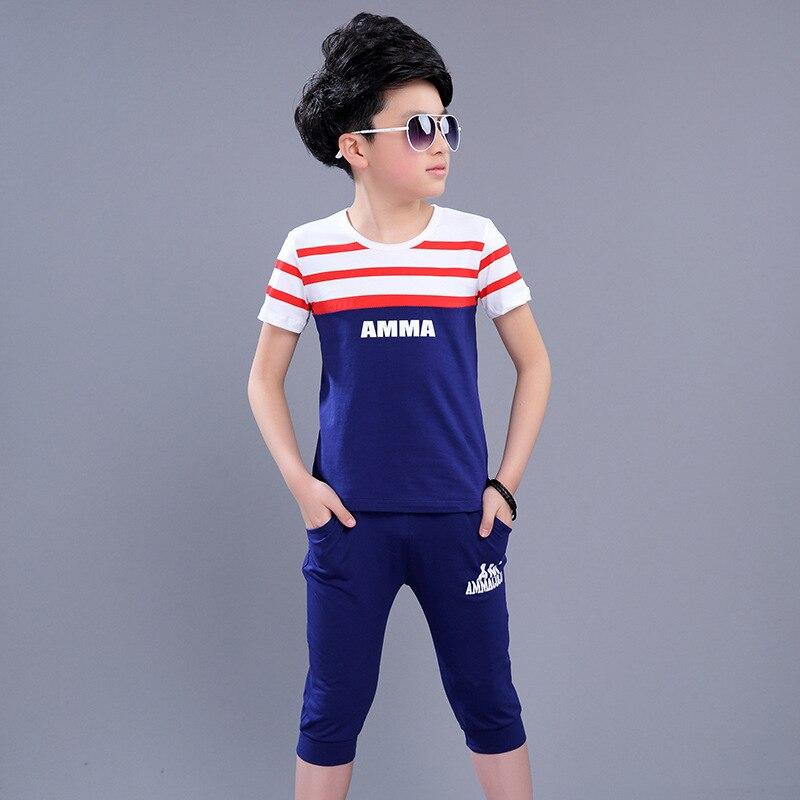 Teenagers Baby Boy Clothing Set Summer School Uniform Children's Fashion Sport Suit 5 6 7 8 9 10 11 12 13 Years Kids Clothes Set seitokai no ichizon cosplay school boy uniform h008