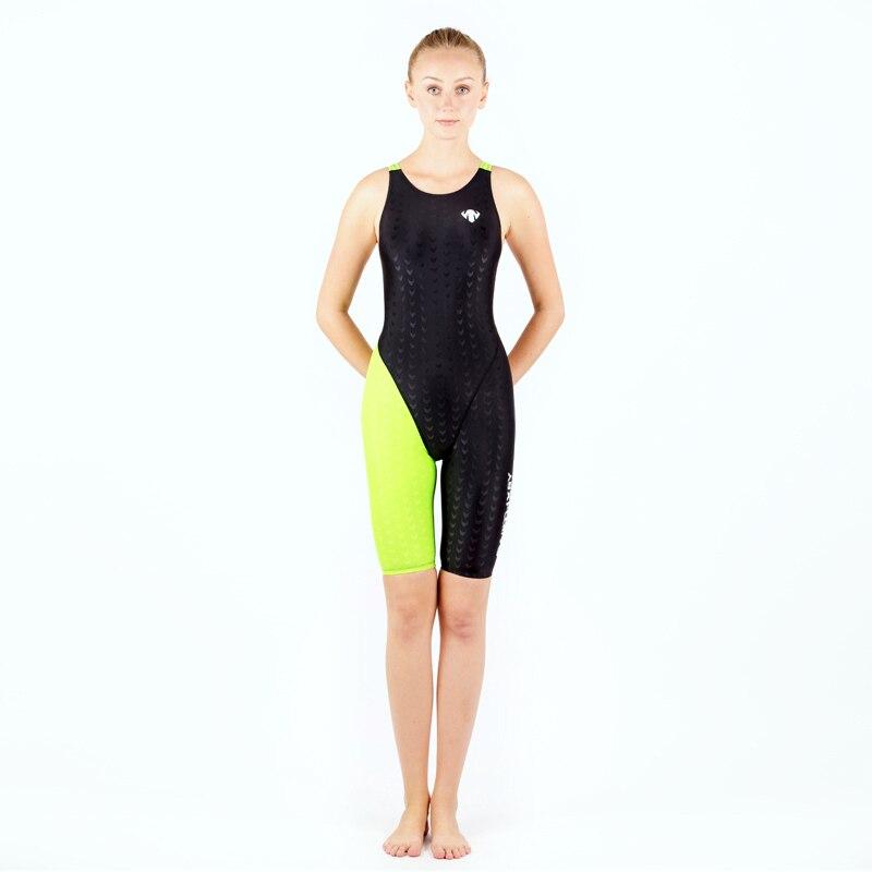 donne professionale di un pezzo costume da bagno nero blu dimagrante tuta da corsa triathlon vestito di alta qualit di marca co