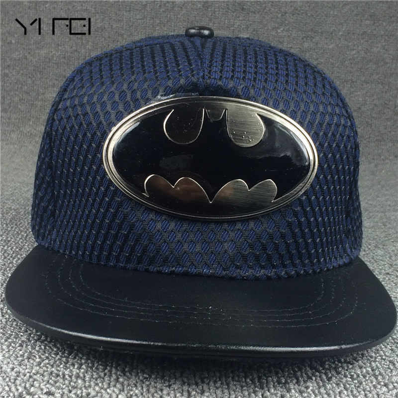 Hot! 2018 Fashion Summer Brand Batman Baseball Cap Hat For Men Women Casual Bone Hip Hop Snapback Caps Hats Net yarn Hat