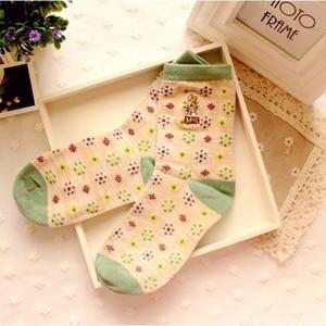 Image 2 - 10 pairs=1 lot Cute Cartoon Embroidery Stripe Peter Rabbit Tube Art Print Novelty Cotton 3D  Casual Japanese Socks MF748512