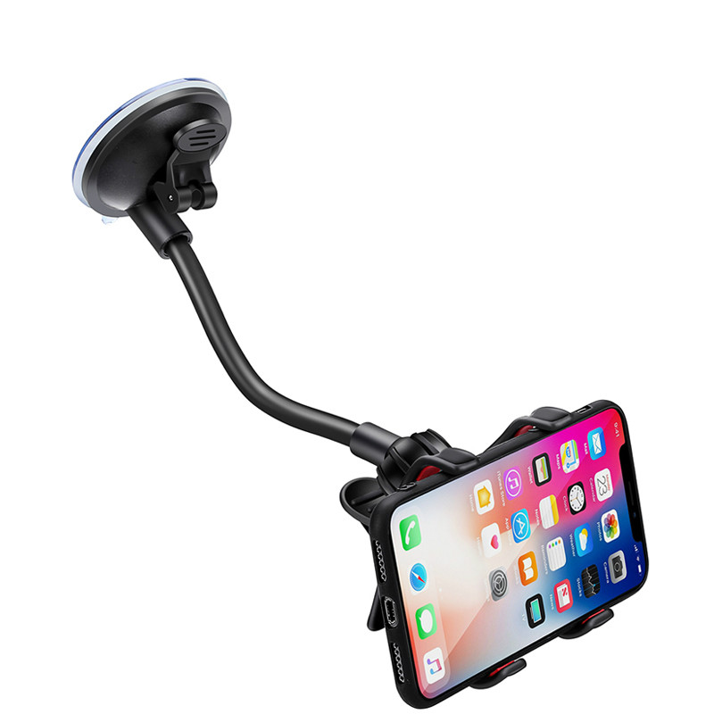 Car Phone Mount Windshield Long Arm Clamp Universal Cell Phone Holder For Xiaomi Redmi Note 7 Pro IPhone X XS Max XR 8 6