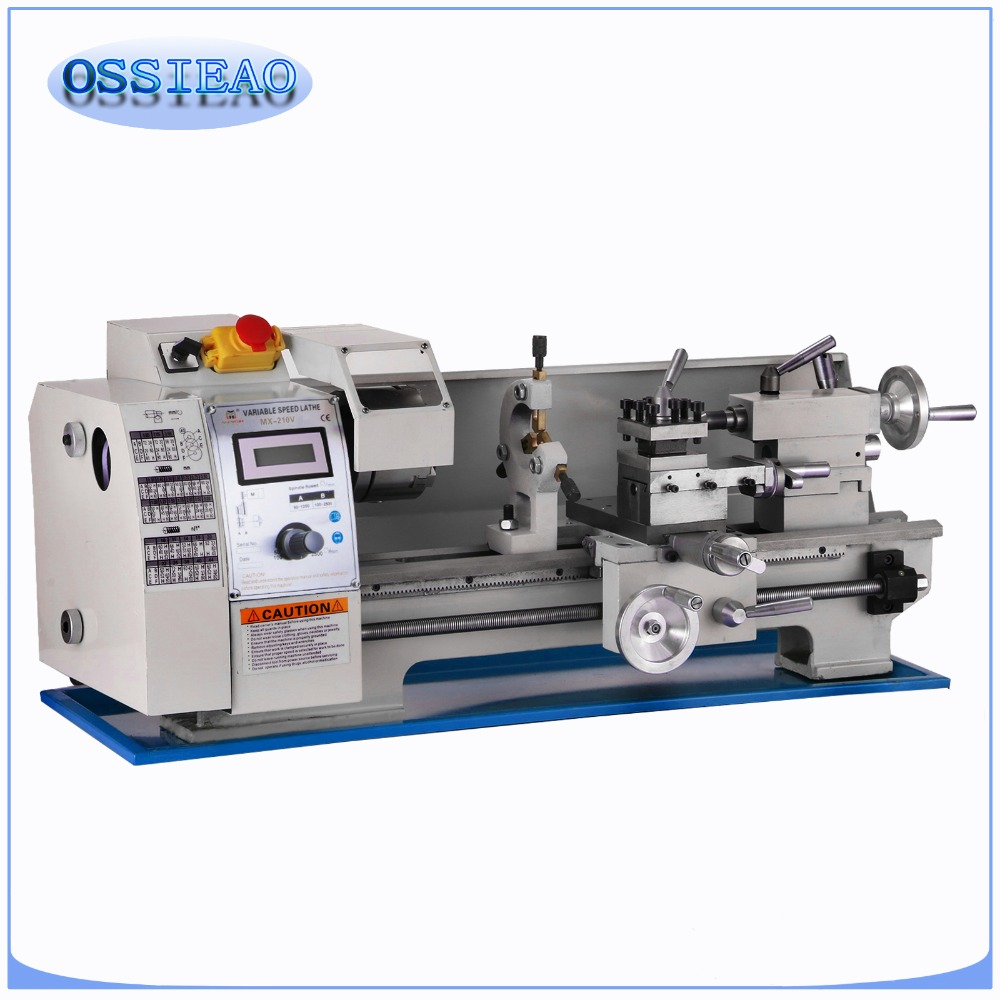 8 x 16Variable Speed Mini Metal Lathe Bench Top Digital RPM 750W-in Lathe from Tools