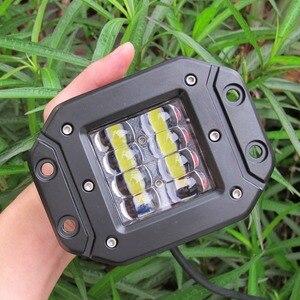 Image 4 - 5 zoll 6D Objektiv Strobe Led Arbeit Licht Für Flush Mount Jeep Auto Lkw Suv 4x4 Off Road wasserdicht Flut Strahl Arbeit Fahren Lichter