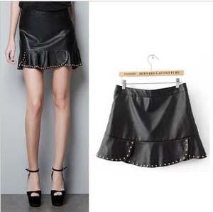 Aliexpress.com : Buy Hot Sale Novelty Rivet Ruffle Skirt With ...