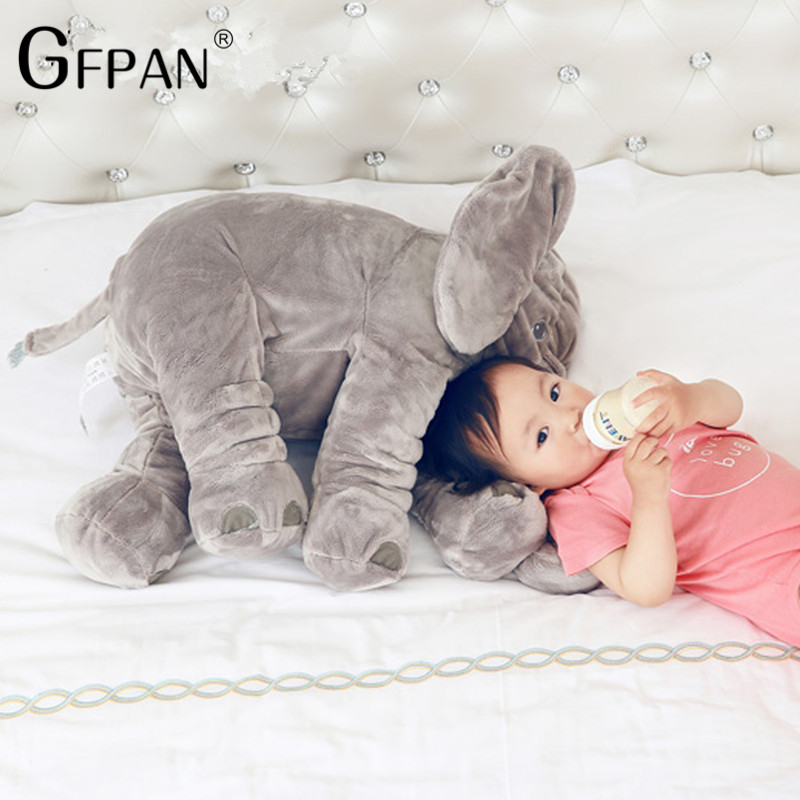 Cartoon 60cm Large Plush Elephant Toy Kids Sleeping Back Cushion Stuffed Pillow Elephant Doll Baby Doll Birthday Gift For Baby