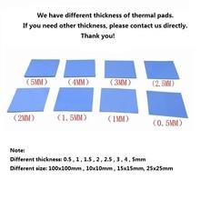 7pcs/lot 100mm x 100mm White Thermal Pad Heatsink Cooling Conductive Silicone Pads For Heatsink Laptop IC GPU BGA Chip VGA Card цена