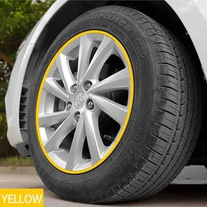 Image 4 - 8M/Roll Car Styling Wheel Rims Protector Strip Car Sticker Decorative Moulding Trim IPA Rimblades wiht 10 Colors