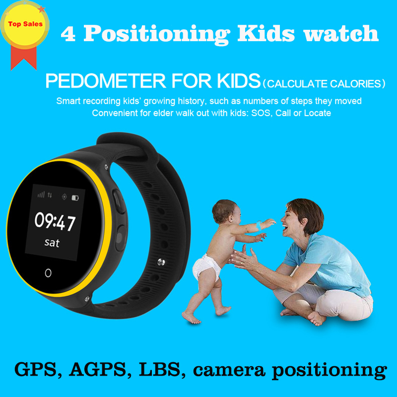 Anti Lost 1.22'' touch screen Child GPS Tracker SOS camera Positioning low radiation Phone Kids GPS Baby Watch for IOS  Android