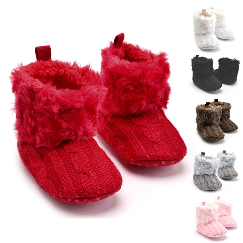 Shoes Prewalkers Snow-Boots Soft-Sole Knitted Newborn Baby-Boys-Girls Winter Fashion