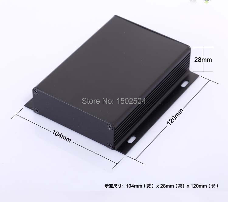 104*28*120mm Aluminum enclosure project box power PCB shell case electronics enclosure wall mounting panel DIY NEW Wholesale 4pcs a lot diy plastic enclosure for electronic handheld led junction box abs housing control box waterproof case 238 134 50mm