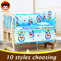 5 UNIDS conjunto cuna juego de cama de dibujos animados juego de cama bebé recién nacido bebé juego de cama cuna parachoques cuna parachoques 100x58 cm CP01