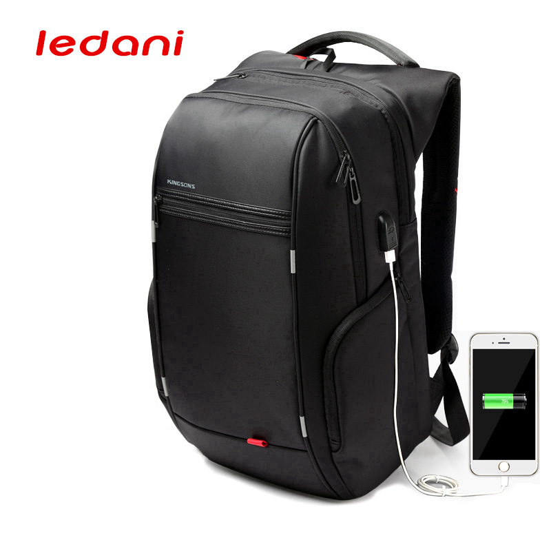 Anti-theft Waterproof Men's Laptop Backpack USB Rechargeable Computer Rucksack Nylon Leisure Travel School Bags For Laptop