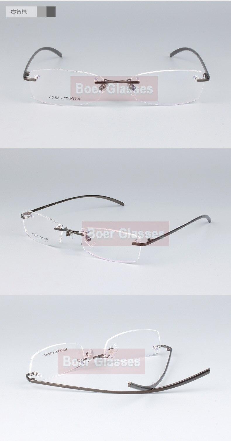 216335144 №حار بيع 100% الصرفة التيتانيوم الرجال النظارات الإطار البصرية ...