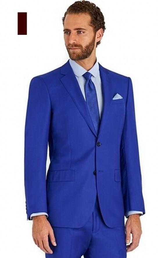 Popular Designer Blue Color Wedding Suits for Mens-Buy Cheap