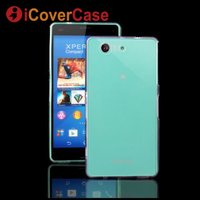Case For Sony Xperia Z3 Compact Ultra Thin Cover Clear Silicon Gel Rubber Transparent Phone Bag For Sony Z3 Compact Coque Etui