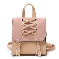 Petrichor Tassel Female Mini Backpack Leather Women Small Backpack Fashion Designer Ladies Shoulder Bag