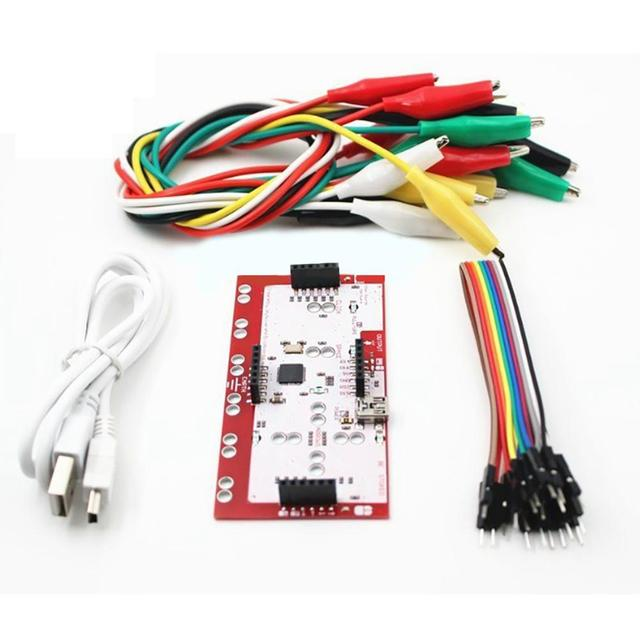 אליגטור קליפ Jumper חוט Makey Makey סטנדרטי בקר לוח ערכת עבור Arduino Makey