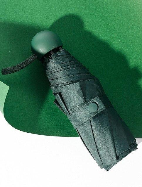 980dd68d42d Paraguas a prueba de viento sombrillas sol para mujer Mini cápsula portátil  paraguas Ultra ligero protección solar UV K604