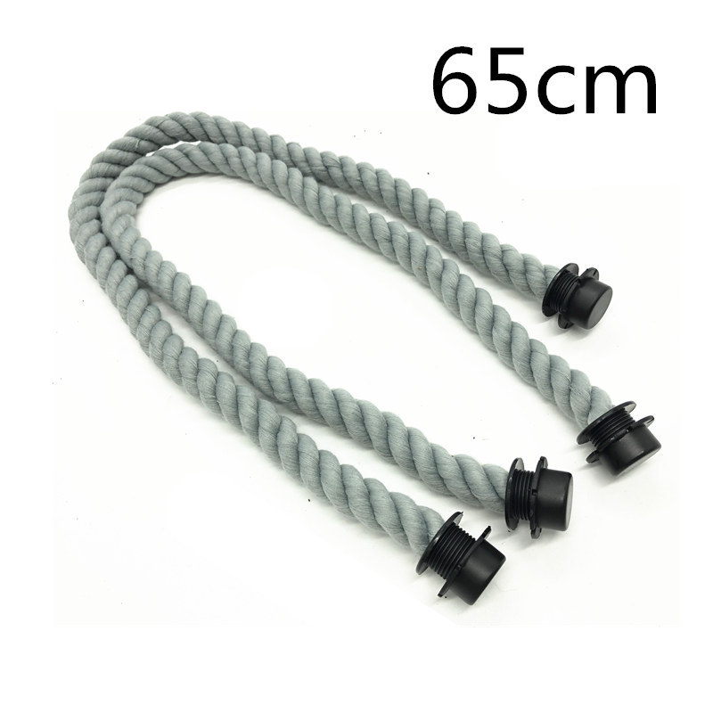 1 pair of 65 cm grey color rope handle for obag handles handbag