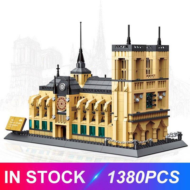 2019 Assemble Building Blocks 5210 Notre Dame de Paris Compatible With Architecture City Set Model Diamond