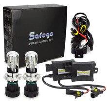 Safego 1 компл. 55 Вт H4-3 би ксеноновые Комплект 9007 9004 H13 Hi Lo BI-XENON фар автомобиля луковицы 55 вт 6000 К DC12v