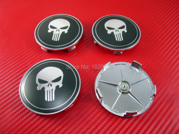 4pcs/set Styling Skull Chrome Logo Emblem Badge Wheel Center Caps For 1 3 6 5 7 8 E46 E60 E90 E92 E93 E39 Z3 Z4 M3 M5 X1 X3 X5 image
