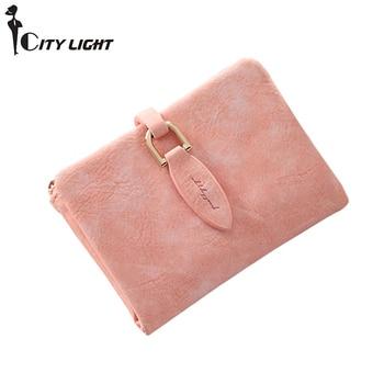 Fashion Lady Short Clutch Wallet Vintage Matte zipper Women Wallet Small Female Coin Purse mini Card Holder Money bag