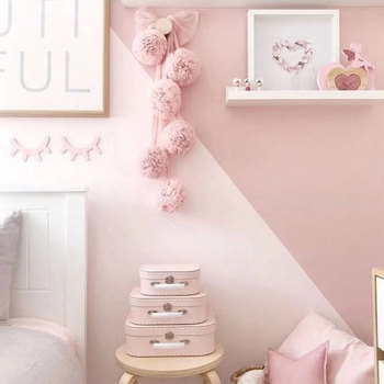 Decoración de habitación de bebé guirnalda de bolas guirnalda banderines para boda o fiesta habitación de los niños mosquitera accesorios de red de cuna 19A0227