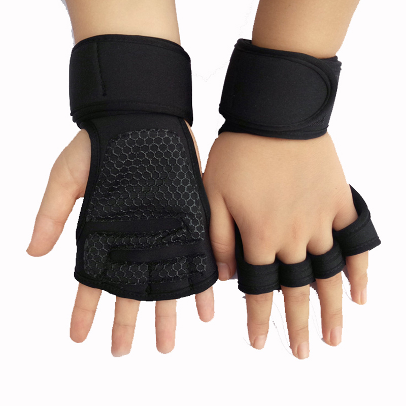 Weight Lifting Training Gloves Women Men Fitness Sports Body Building Gymnastics Grips Gym Hand Palm Protector Gloves