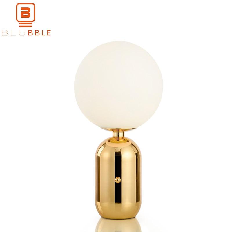 BLUBBLE Simple Mini Table Lamp AC 90-260V Glass Bedroom Study Bedside Lamp Originality White/Gold LED Bulb Read Desk Lamp BLUBBLE Simple Mini Table Lamp AC 90-260V Glass Bedroom Study Bedside Lamp Originality White/Gold LED Bulb Read Desk Lamp