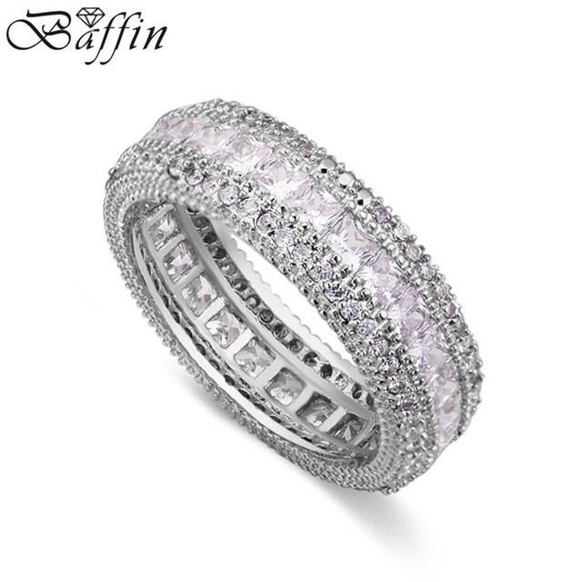 High Quality Wedding Rings For Bridal Cz Rose Gold Color Bague Femme Party Accessories