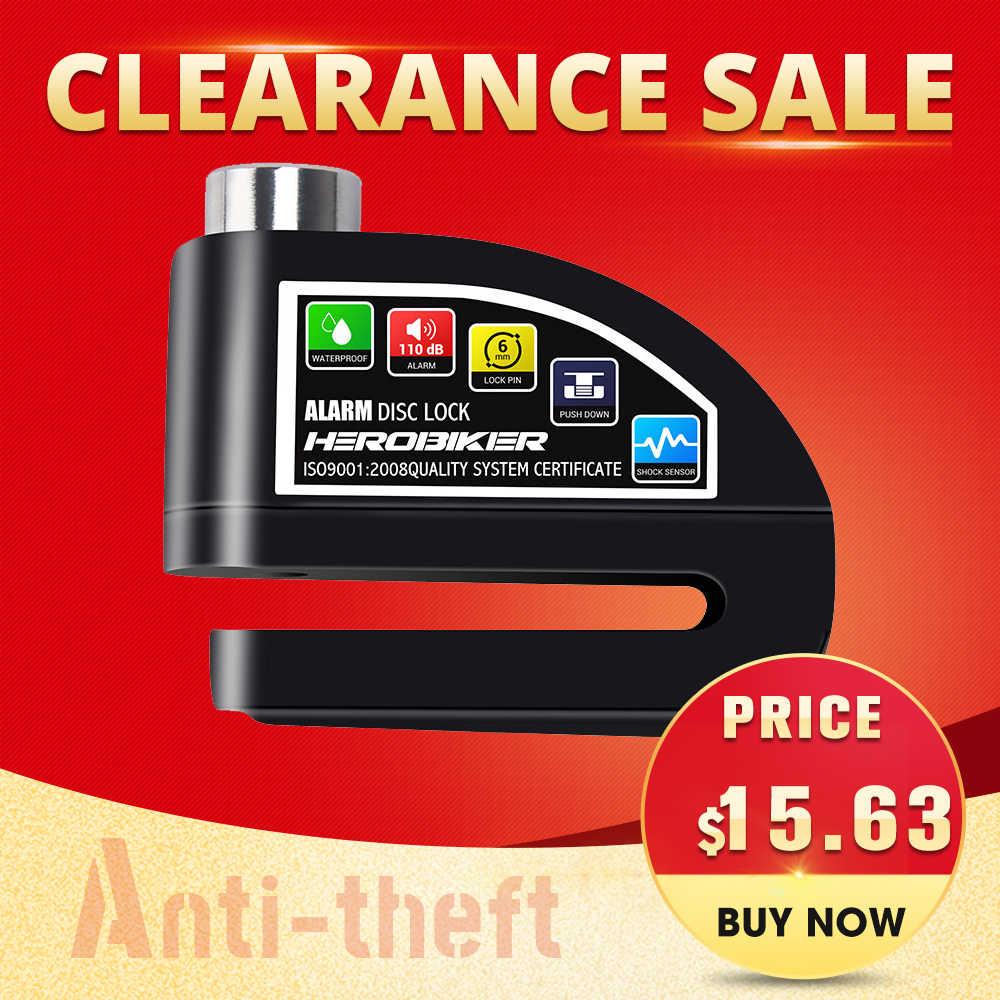 Clearance Sale! !! Sepeda Motor Rem Cakram Skuter Anti-Pencurian Sepeda Sepeda Keamanan Kunci Keamanan Sistem Alarm Tahan Air
