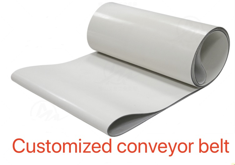(Customized conveyor belt) Thickness:3mm White Silicone +Canvas Conveyor Belt Heat-Resistant High Temperature Industrial Belt customized pvc pu belt industrial heat resistant rubber belt factory conveyor belt teflon mesh strap