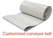 (Customized conveyor belt) Thickness:3mm White Silicone +Canvas Conveyor Belt Heat-Resistant High Temperature Industrial Belt high capacity movable belt conveyor pvc pu conveyor belt
