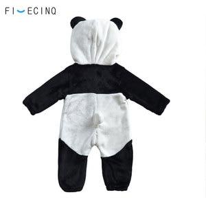 Image 4 - Panda Kigurumis Baby Kinder Kinder Cartoon Tier Cosplay Kostüm Warme Weiche Flanell Phantasie Winter Onesie Niedliche Pyjama Körper Anzug
