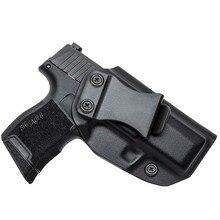 Kydex Holsters cachés pour Sig Sauer P365, crochet de protection, ceinture intérieure, transport dissimulé, en Fiber de carbone Iwb