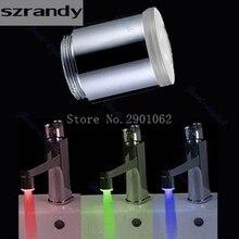 Glow светодиодные кран водопроводной воды для душа автоматическое 7 цветов Изменение LD8001-A9 хороший инструмент-B119