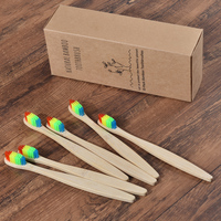 50 Pack Vegan Soft Bristle Toothbrush Bamboo Toothbrush cepillo dientes Natural Eco Capitellum Bamboo Fibre Bamboo Toothbrush