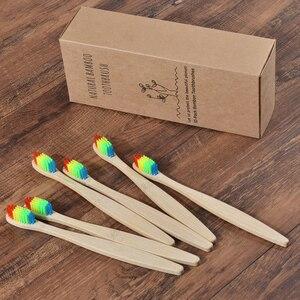Image 2 - Niestandardowe LOGO 300 Pack miękkie włosie szczoteczki do zębów szczoteczka bambusowa cepillo dientes Natural Eco z włókna bambusowego szczoteczka bambusowa