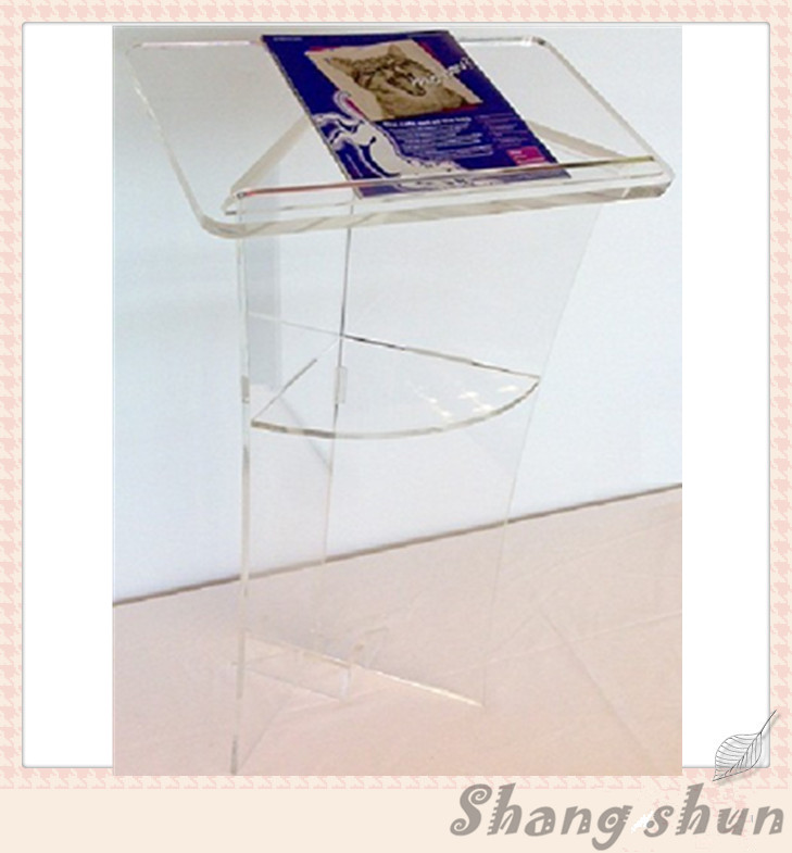 Elegant Acrylic Podium Pulpit Lectern Acrylic Pulpit Acrylic Rostrum Plexiglass Dais transparent acrylic school lectern acrylic platform perspex rostrum plexiglass dais cheap church podium