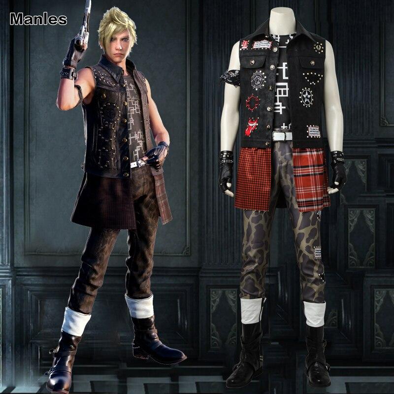 Final Fantasy XV Prompto Аргентум Косплэй Костюм Аниме игра наряд на Хэллоуин костюм с рождественским рисунком для взрослых Для мужчин одежда индивид...