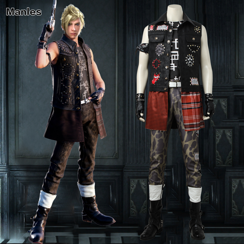 Final Fantasy XV Prompto Argentum Cosplay Costume Anime Game Outfit Halloween Christmas Suit Adult Men Clothes Custom Made Male