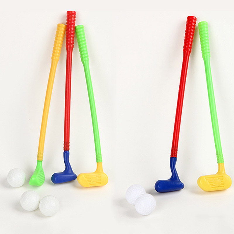 Newly Kids Mini Golf Club Ball Set Funny Children Outdoor Backyard Sport  Exercise Game Toys Minigolf