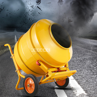 Мелкая бытовая электрическая смеситель кормов для животных высокого качества ручной толчок бетона растворосмеситель 220 В 2800 Вт 350L 30r /мин