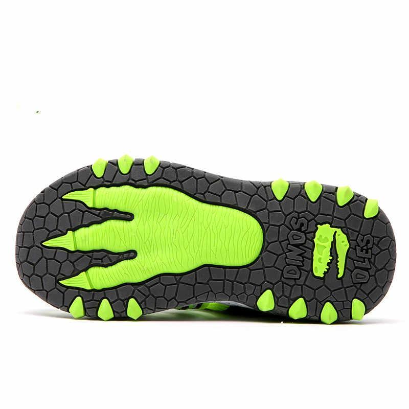 Dinoskulls פעוט סנדלי ילדים אור בני תינוק סנדלי 3D דינוזאור לפעוטות חוף קיץ נעלי 2019 סנדלי הילדים מקרית